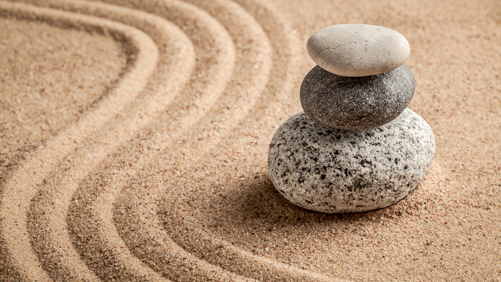 Japanese Zen stone garden - relaxation, meditation